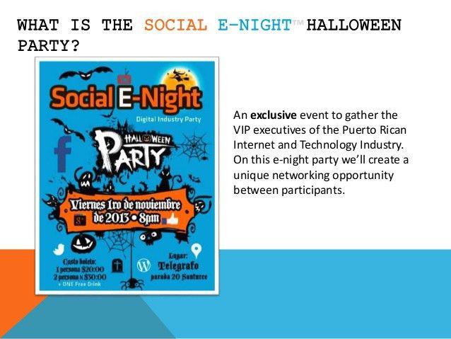 Sponsor presentation social e night halloween party