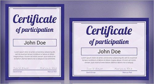 13+ Sample Certificates - Documents Download in PDF, Word, PSD