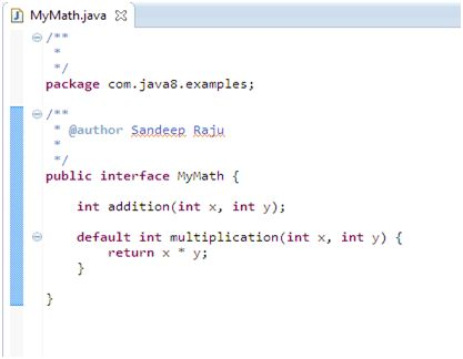 Default Methods in Java 8 with example | Java J2EEBrain