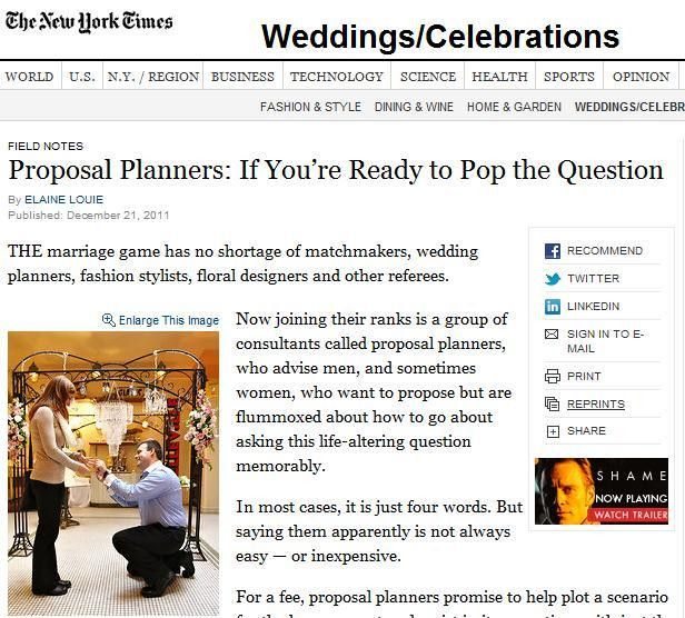 New York Wedding, Proposal and Event Planning – Wedding Planning ...