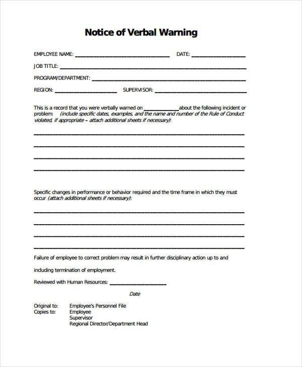 6+ Warning Notice Templates - Free Samples, Examples Format ...