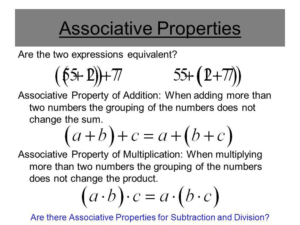 Algebraic Properties. - ppt video online download