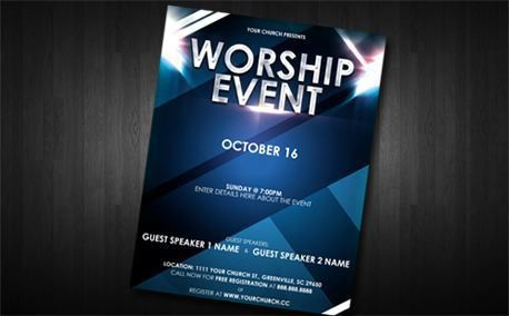 Media - Worship Event Flyer | CreationSwap