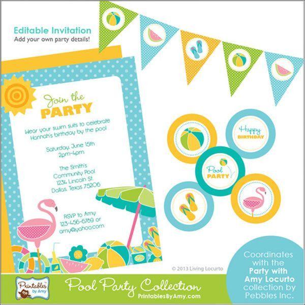 9+ Pool Party Menu Templates - Designs, Templates   Free & Premium ...