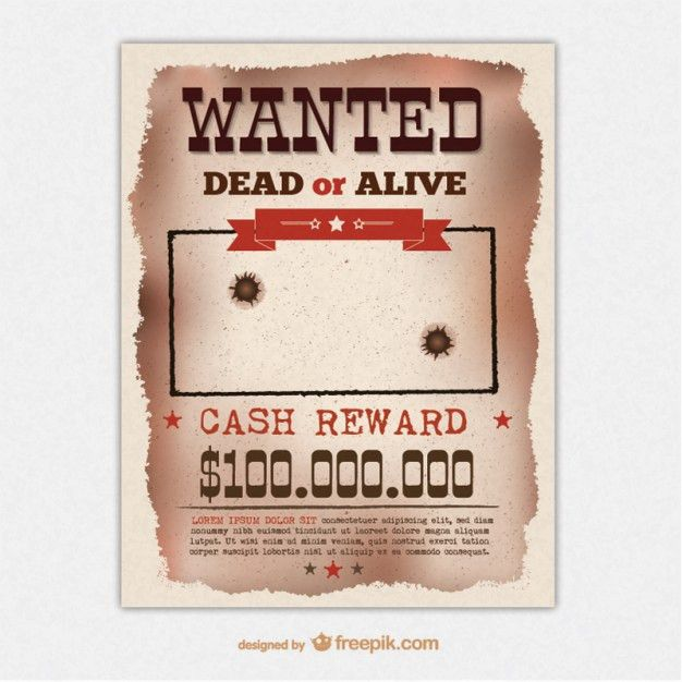 Retro wanted poster template Vector | Free Download
