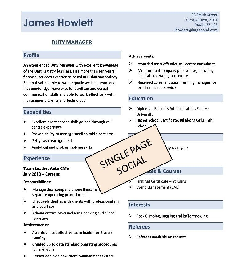 Attractive Ideas 1 Page Resume 13 17 Ways To Make Your Resume Fit ...