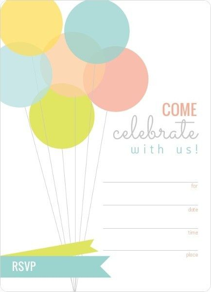 Blank Birthday Invitations | Card Invitation Templates