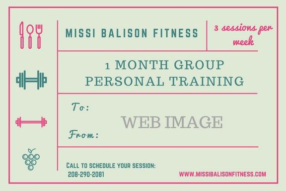 Personal Training Gift Certificates - Missi Balison Fitness