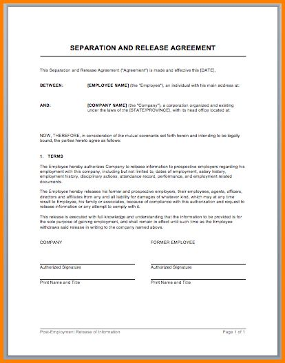 Legal Separation Papers.Sample Marriage Separation Agreement Form ...