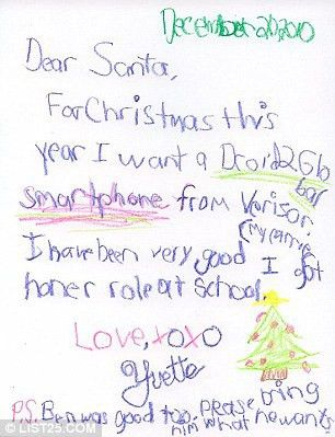 Dear Santa, if you bring presents, bring batteries': Children's ...