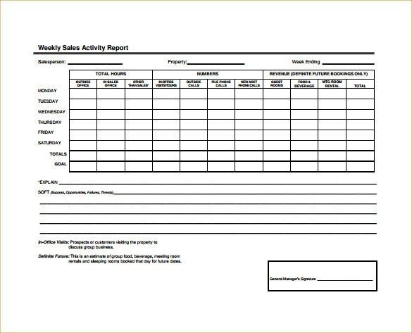 Sample Sales Activity Report Template - 8 Free Word, PDF, Excel ...