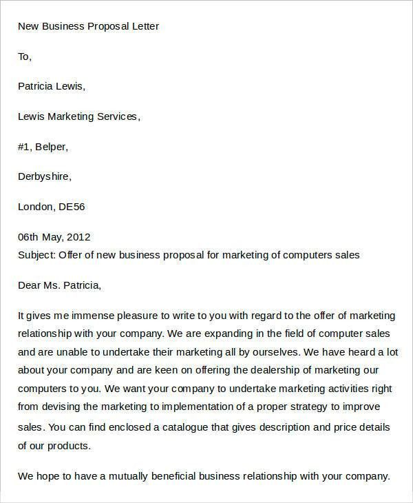 Marketing Proposal Letter. Marketing Proposal Letter Services ...