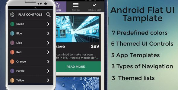 Android Flat UI Template by Moka_Plus | CodeCanyon