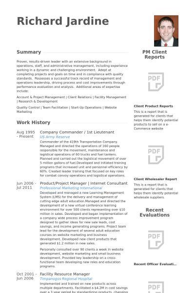 Lieutenant Resume samples - VisualCV resume samples database
