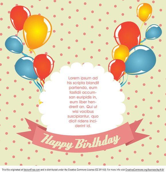 Polka dot birthday card vector Free vector in Encapsulated ...