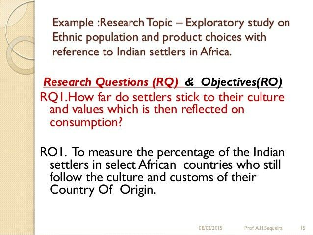 Research questions and research objectives