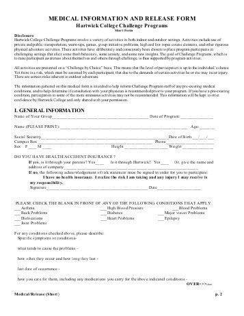 Medical Information Release Form. Medical Release Form 04 30+ ...