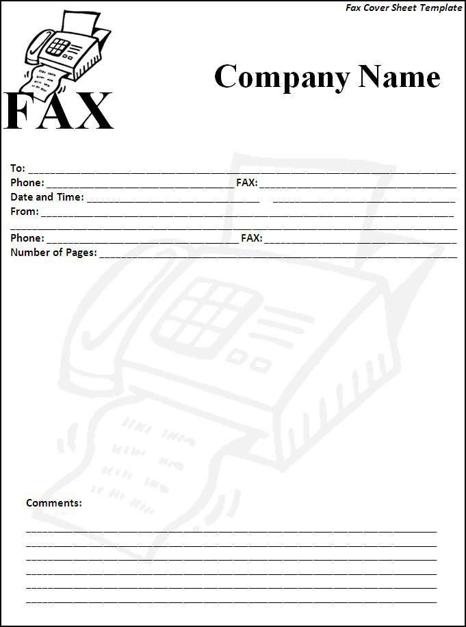 Fax Cover Sheet Template - Word Excel Formats