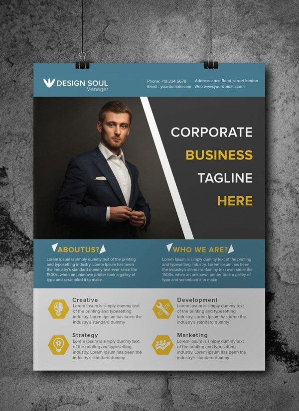 Free Corporate Business Flyer PSD Template | Freebies | Graphic ...