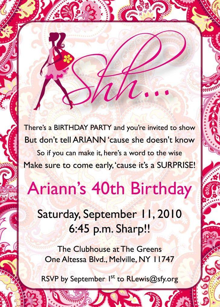 Surprise Birthday Party Invitation Template - vertabox.Com