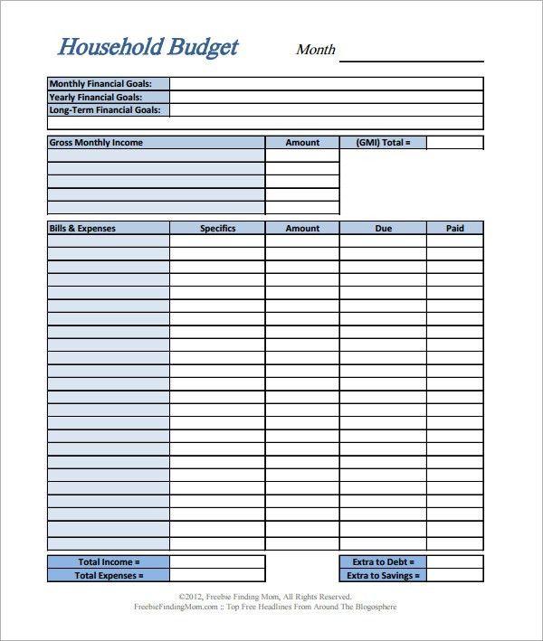 Simple Budget Template - vnzgames