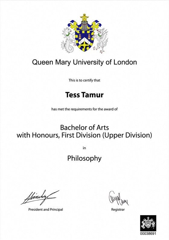 Frame for degrees from Queen Mary University of London ...