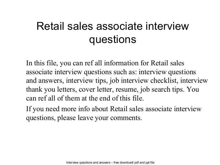 cover letter sales associate retail