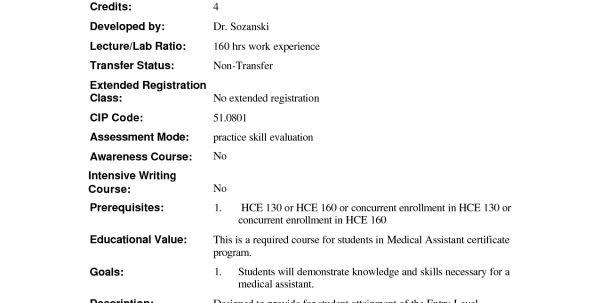 Medical Assistant Job Description Cardiology Medical Assistant ...