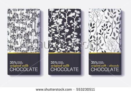 Vector Set Chocolate Bar Black White Stock Vector 553230511 ...