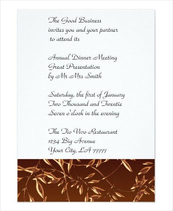 Formal Business Invitation Template | Jobs.billybullock.us