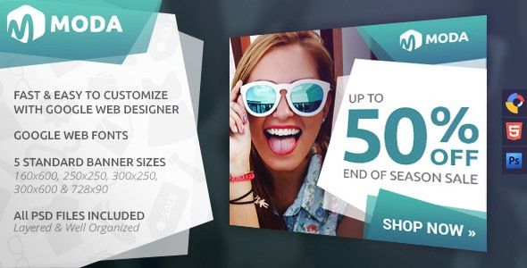 Moda - Fashion HTML5 Ad Template by WiselyThemes | CodeCanyon