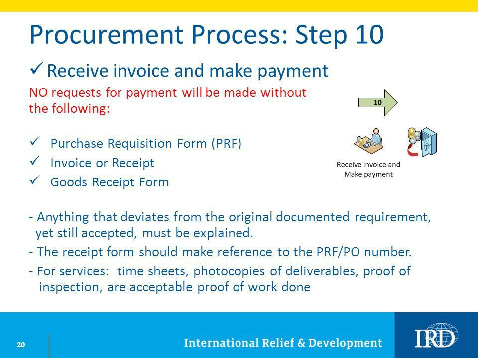IRD Procurement: BASIC October NOTE: The following provides ...