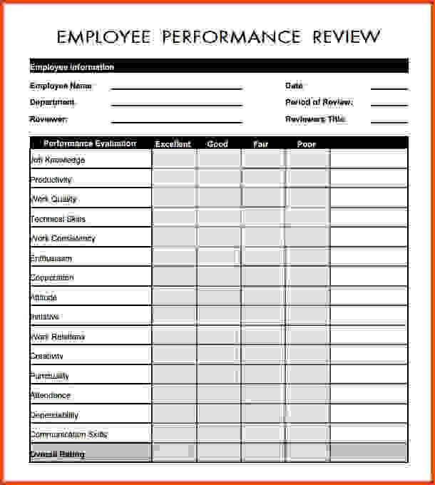Employee Evaluation Template.Employee Appraisal Form.gif ...