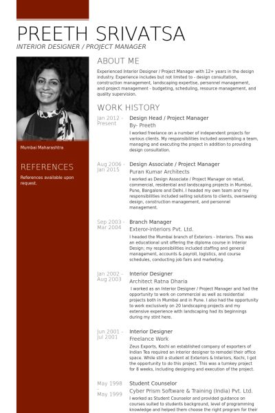 Download Architectural Project Manager Resume ...