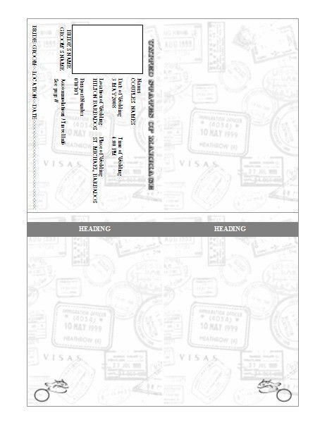Passport Invitation Template - Pre-Designed | printables ...
