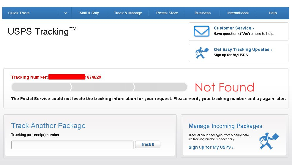 Tracking Number Problem — Is It Fake?