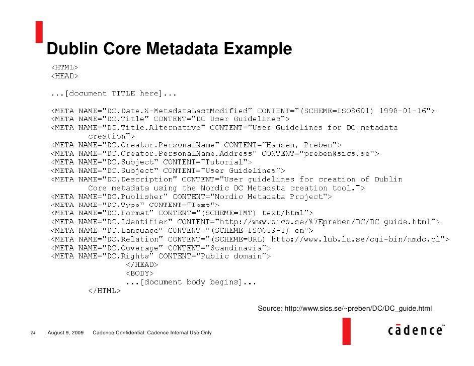 Metadata Primer
