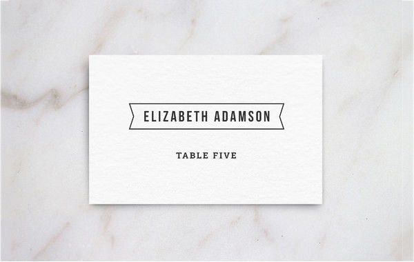 Place Card Template | Free & Premium Templates