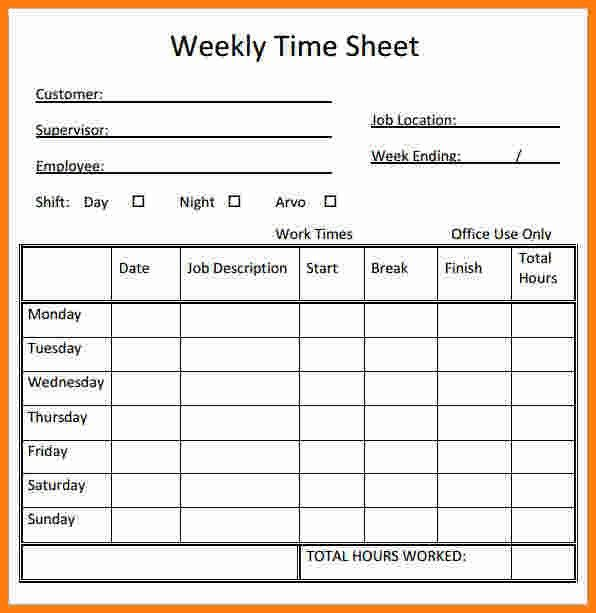 12+ free printable weekly timesheet template   ledger paper