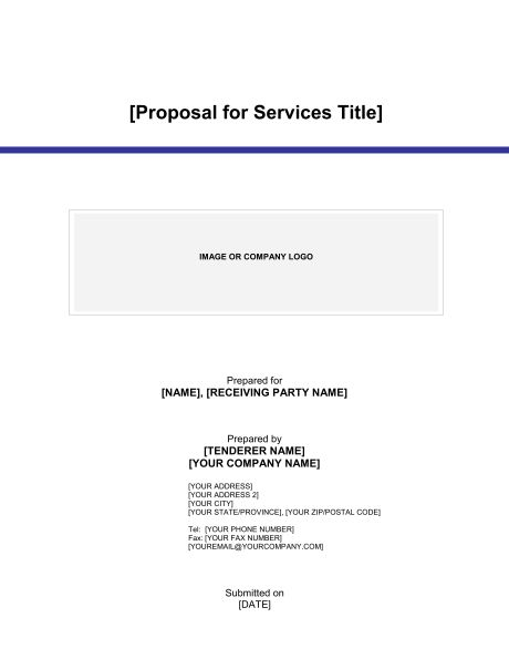 Proposal for Services - Template & Sample Form | Biztree.com