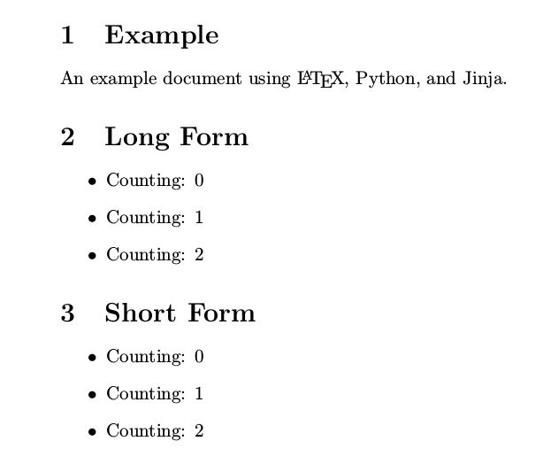 LaTeX templates with Python and Jinja2 to generate PDFs | Brad ...