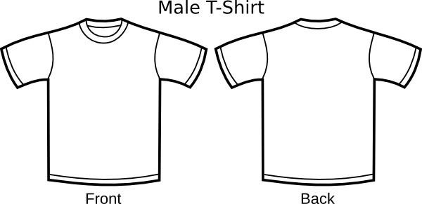 T Shirt Template clip art Free vector in Open office drawing svg ...