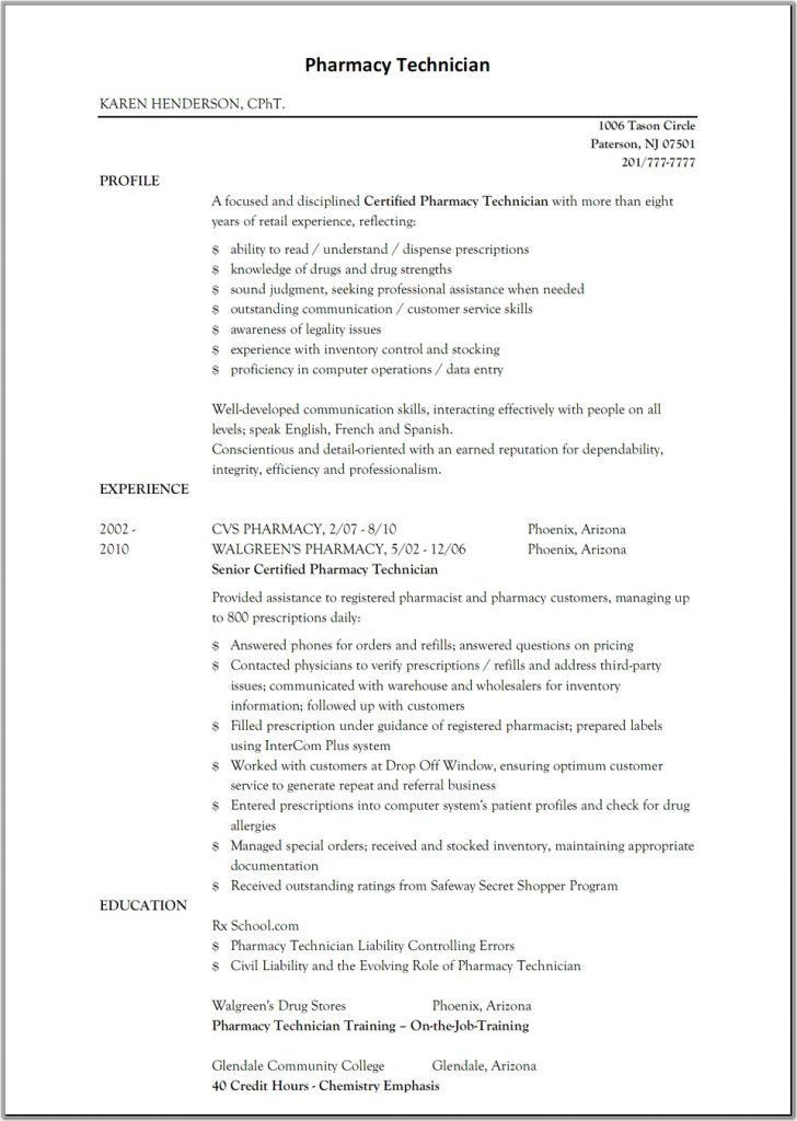 Chic Design Pharmacy Technician Resume Example 9 Resume Skills ...