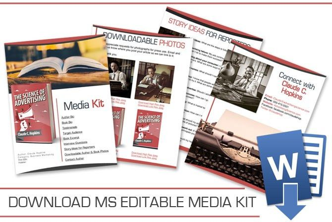 Author Media Kit Customizable Template