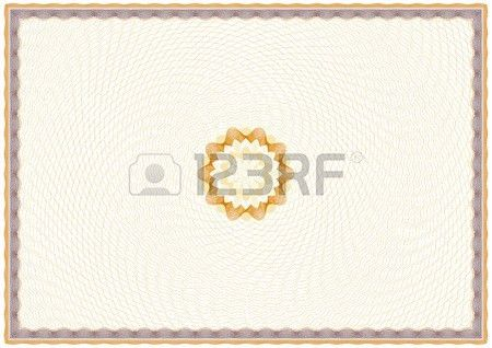 Guilloche Background For Certificate Or Diploma (background ...