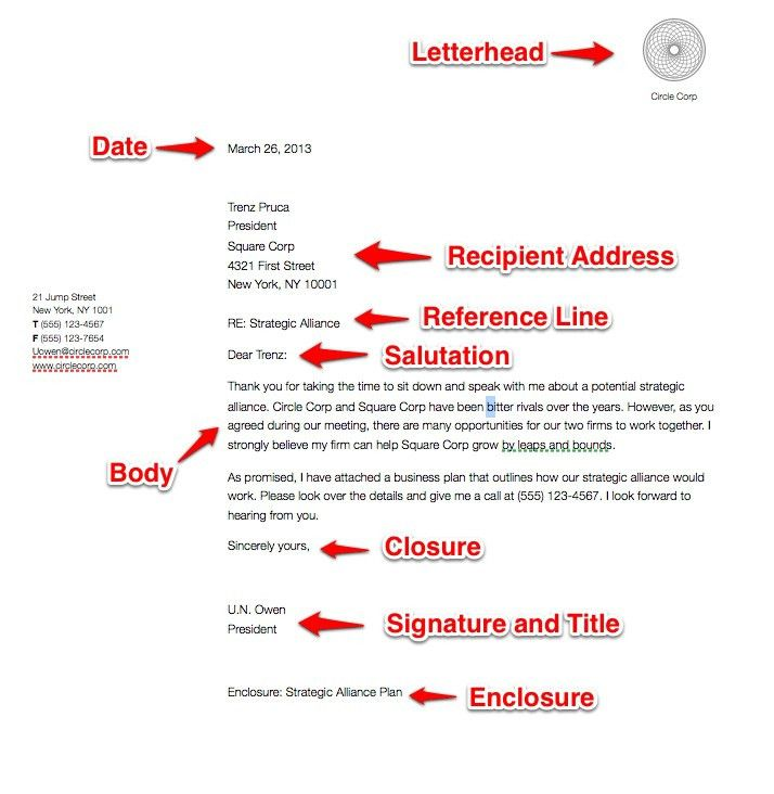 Business Letter Format. Letter Format Spacing And Spacing Letter ...