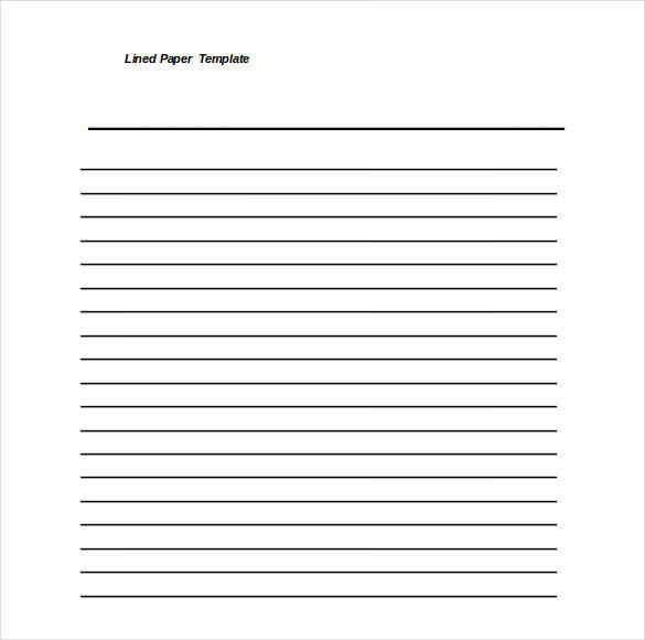 5+ lined page template word | a cover letters