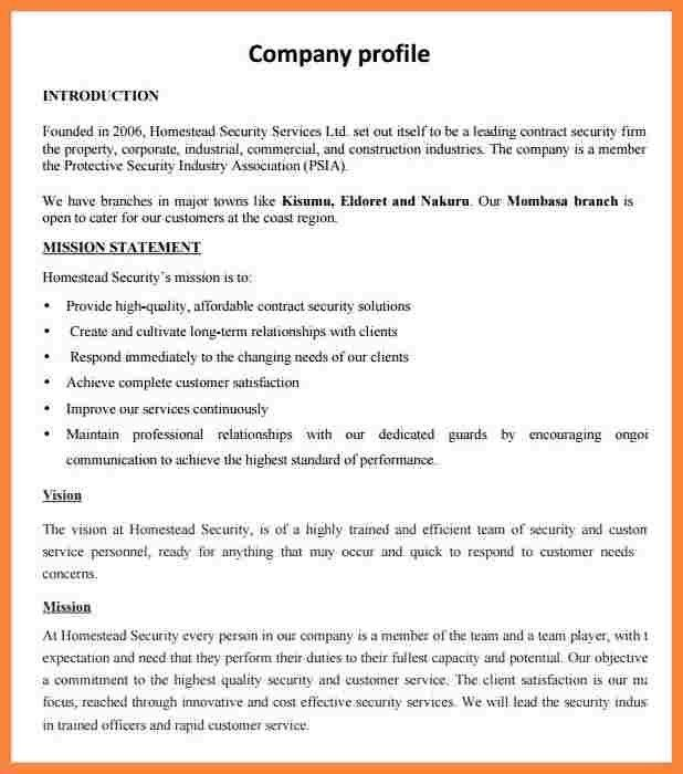 5+ business profile sample doc | Bussines Proposal 2017