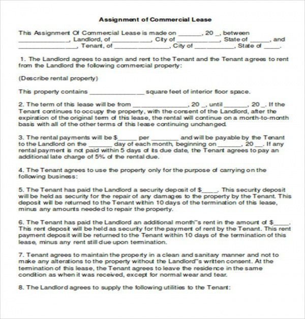Assignment Of Lease. 2 Leaseagreement (1) Lease Assignment .