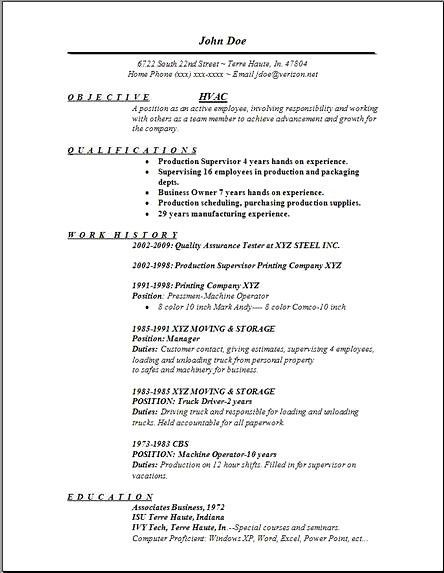 hvac resume unforgettable hvac and refrigeration resume examples